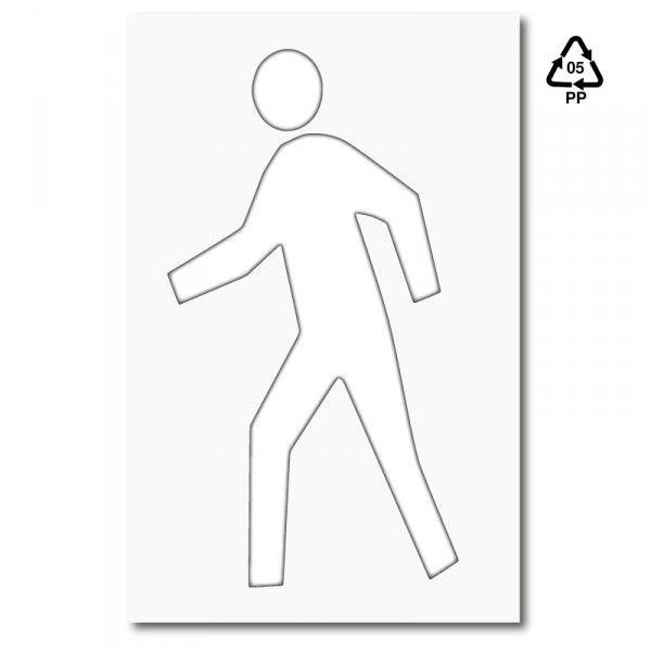 Plantilla pintar pictograma peatón | Plantillas marcación en ...