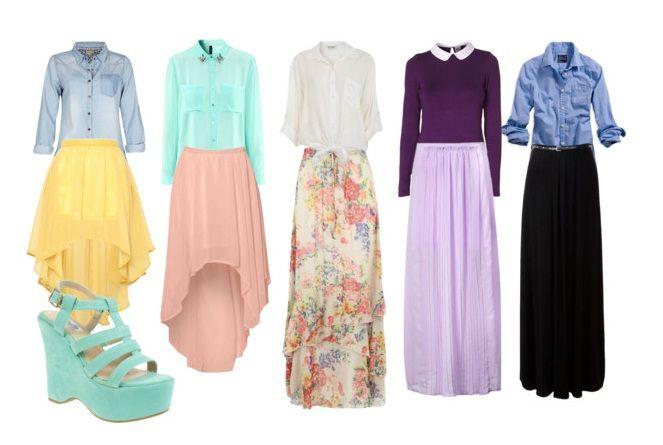 ¡Buenas ideas sobre cómo usar y combinar una maxi falda!