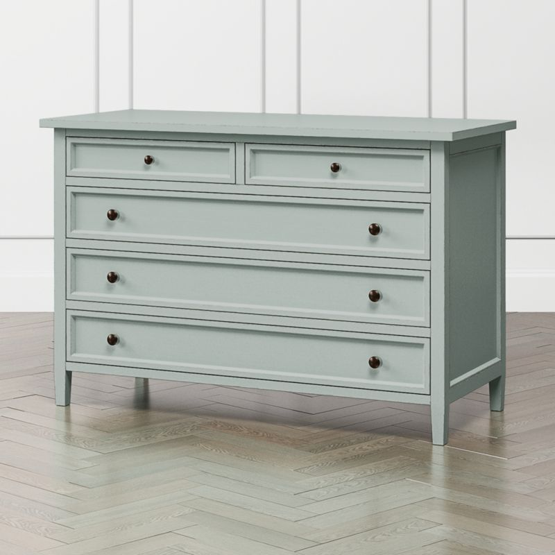Best Harbor Blue Grey 5 Drawer Dresser Reviews Crate And 640 x 480