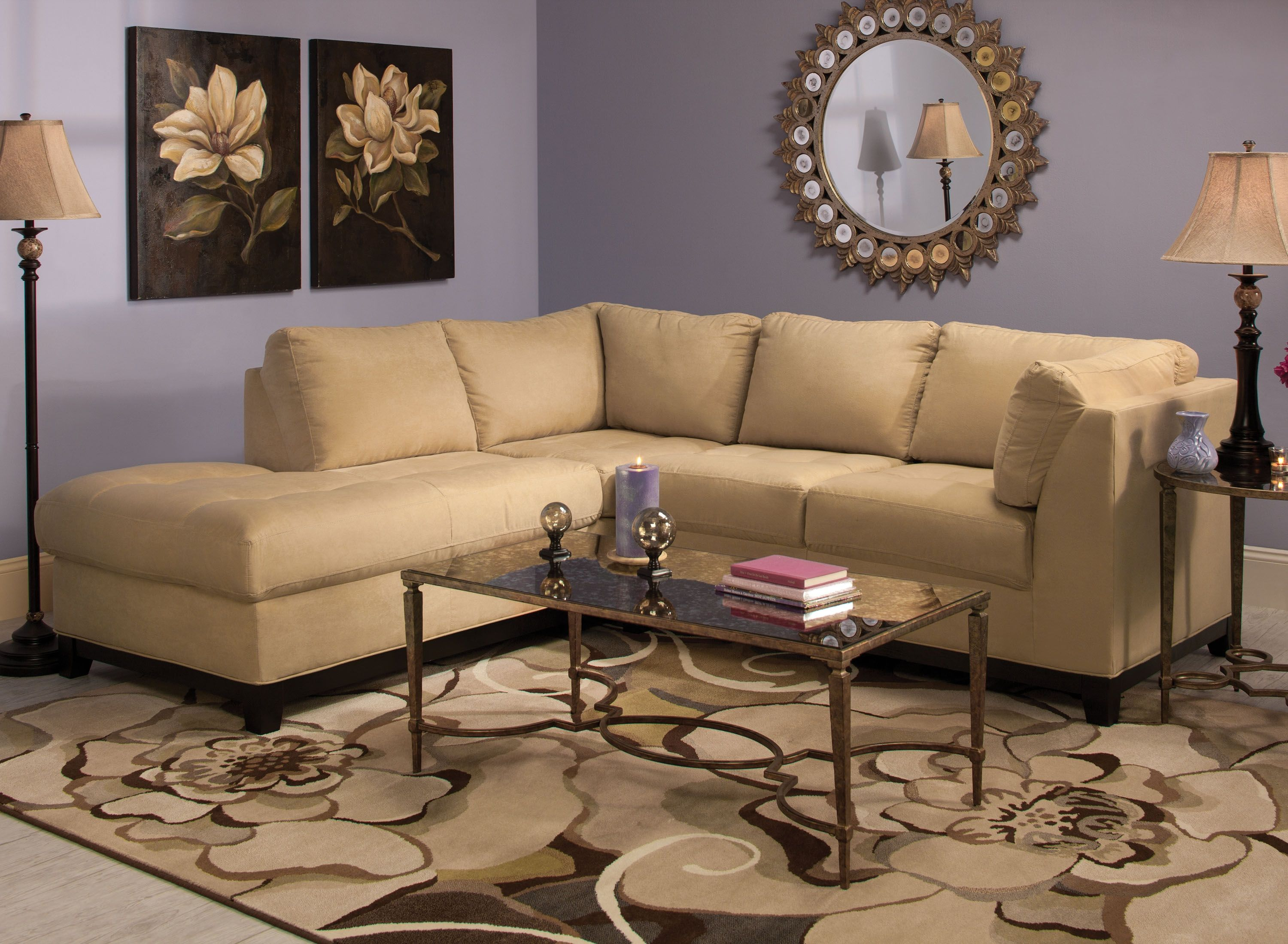 Merveilleux This Contemporary Kathy Ireland Home Wellsley 2 Piece Microfiber Sectional  Sofa Features Neutral, Dijon Colored Microfiber Thatu0027s So Easy To Decorate  With.