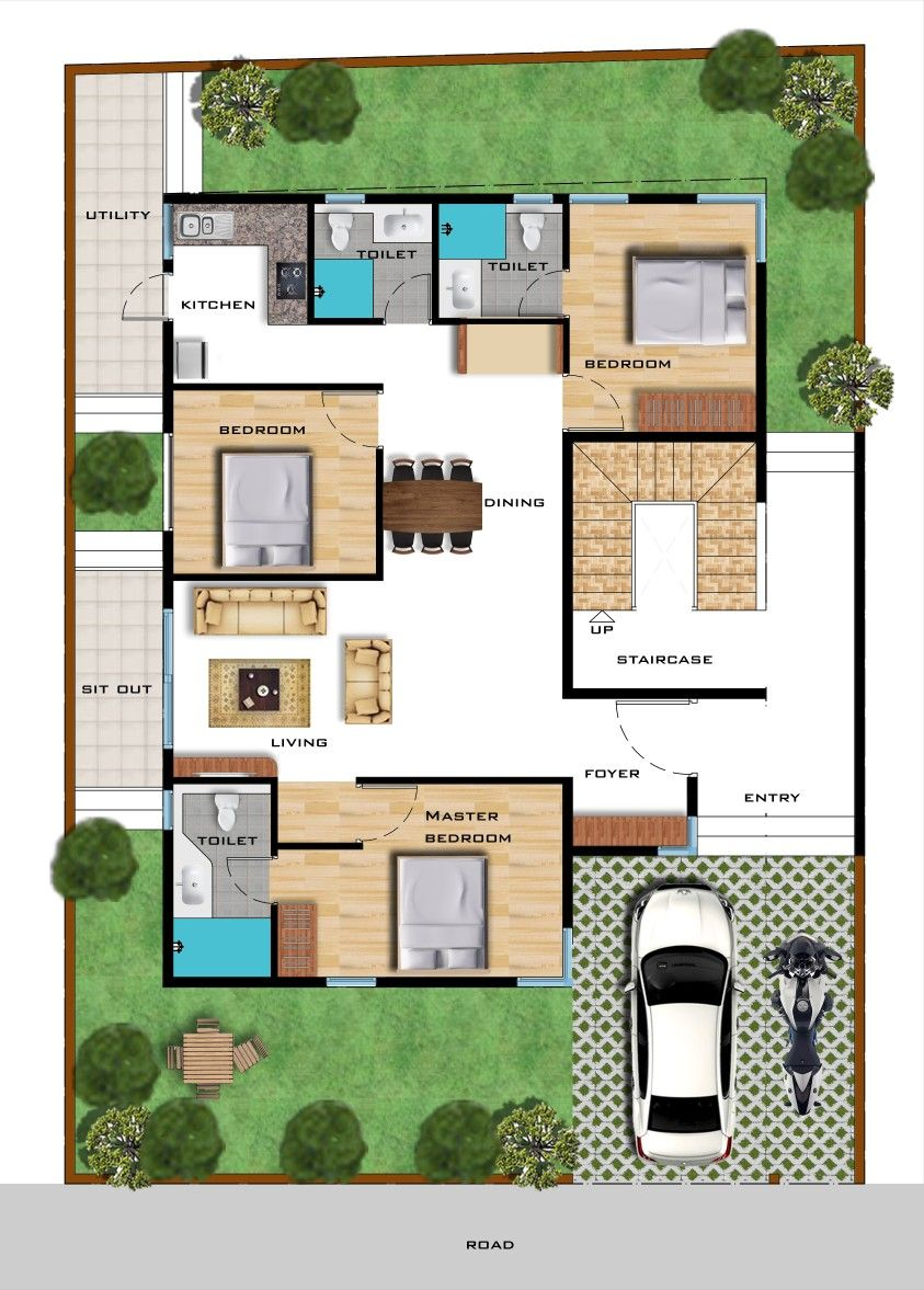 Pin de kapil raghav en House  plan  and photoshop  Living