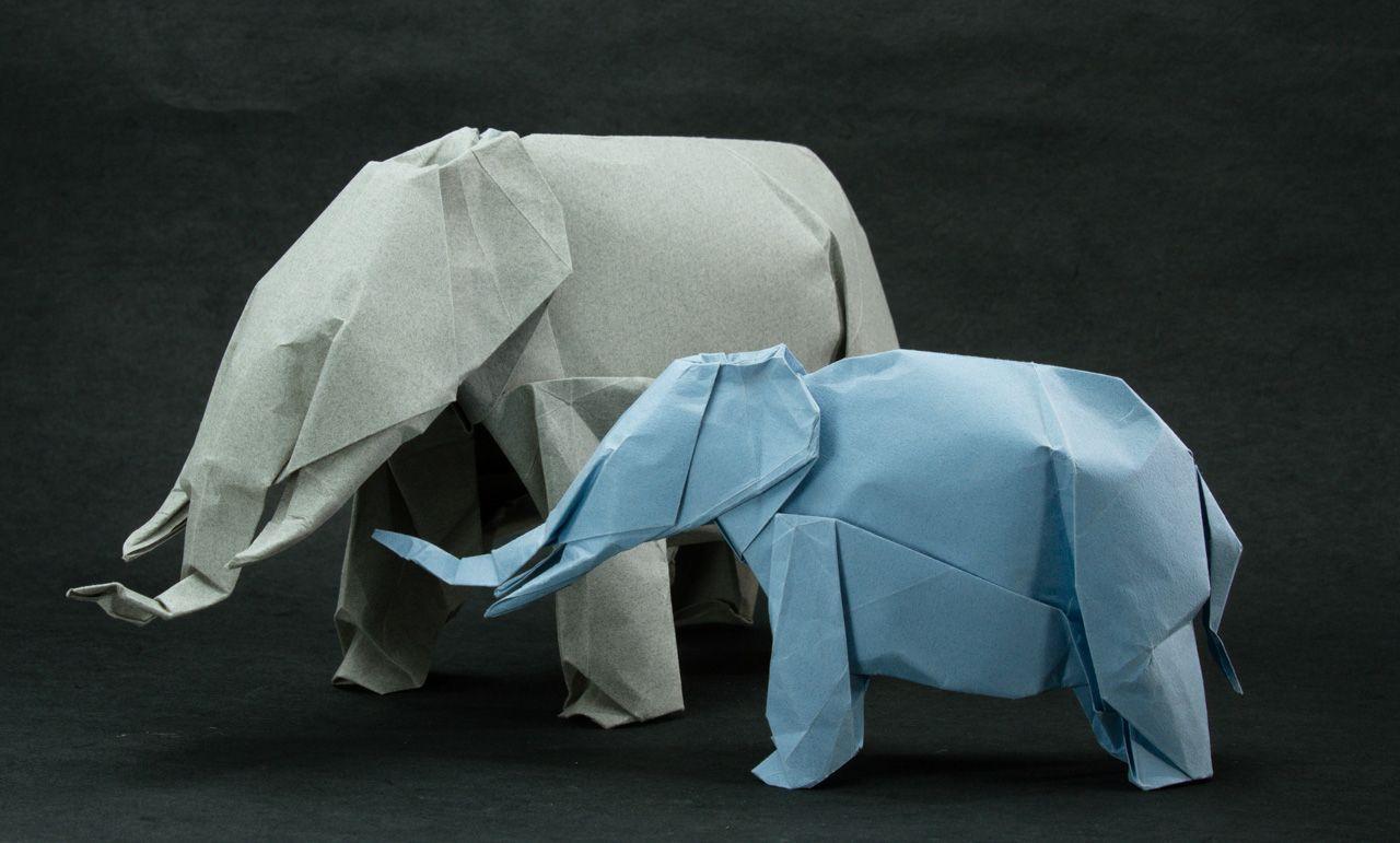 Elephants | Origami | Pinterest | Elephant, Lion and Origami - photo#36