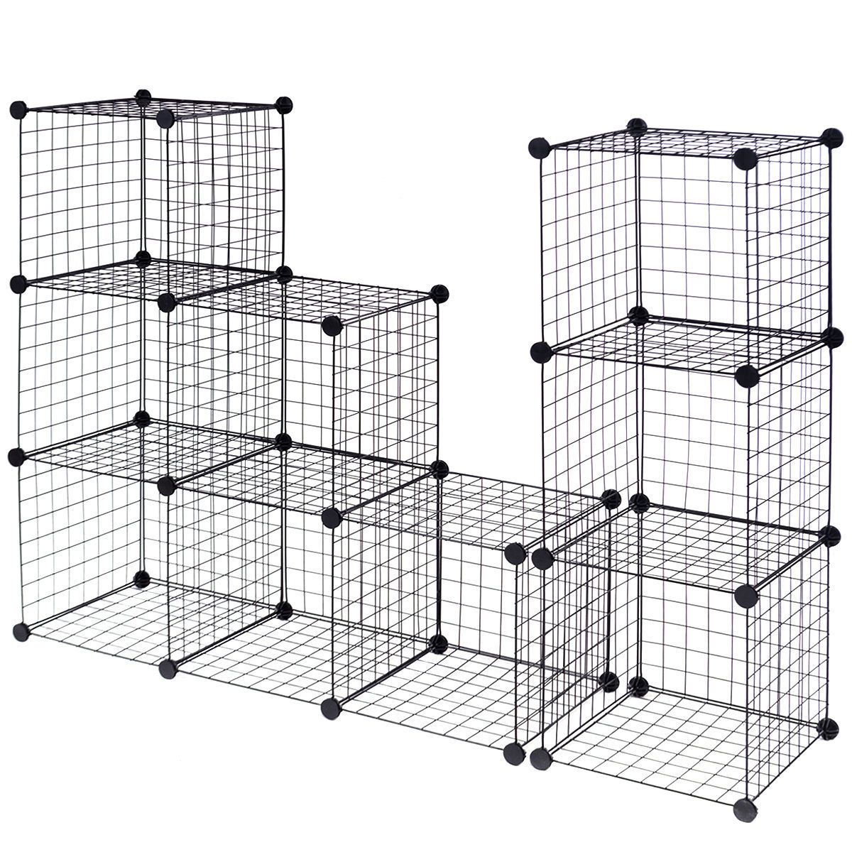 DIY 12 Cube Grid Wire Cube Shelves | Cube, Shelves and Wire storage