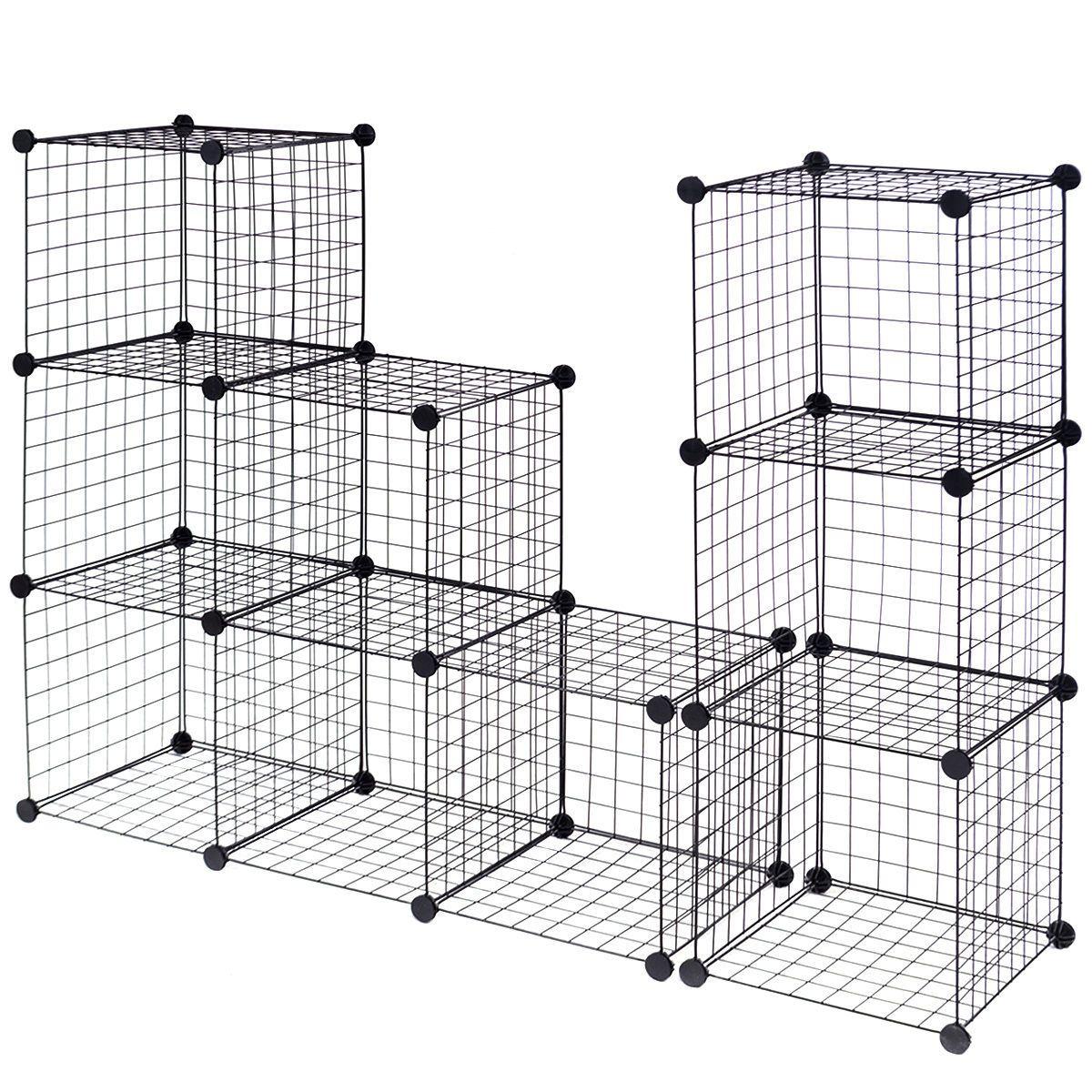 DIY 12 Cube Grid Wire Cube Shelves | Home & Garden | Pinterest ...