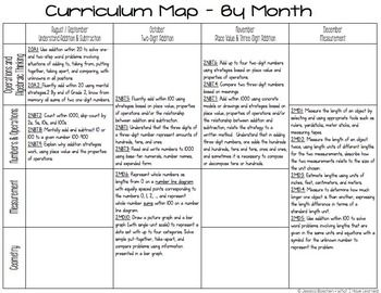 Second Grade Math Curriculum Map | Teachforlife | Curriculum