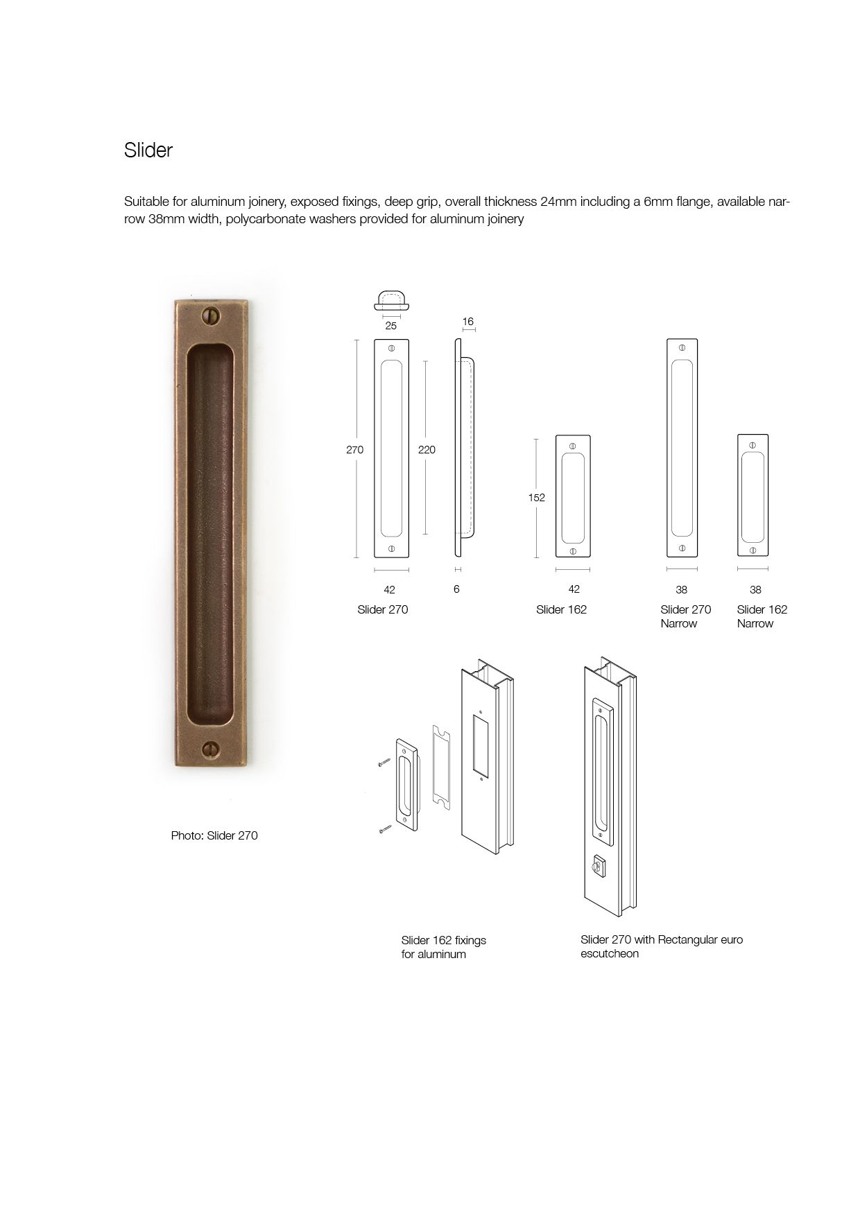 Slider Bronze Door Handle Made By Black Sand Bronze With Dimensions And  Fitting Instructions