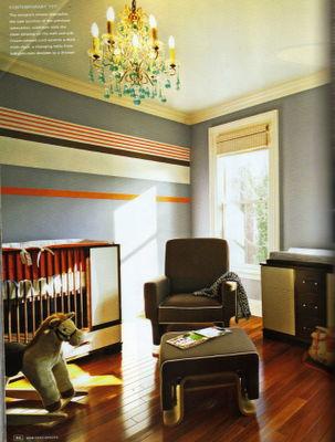 Good example of brown and grey working together.   sadie + stella: monday musings: nurseries...boy oh boy!