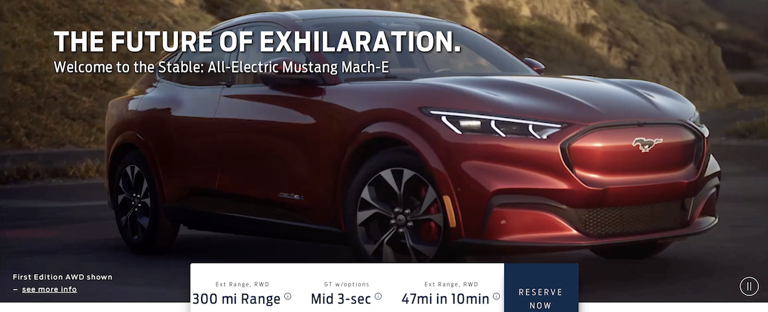 2021 Mustang Mach E Electric Car Ford Official Page W Pricing