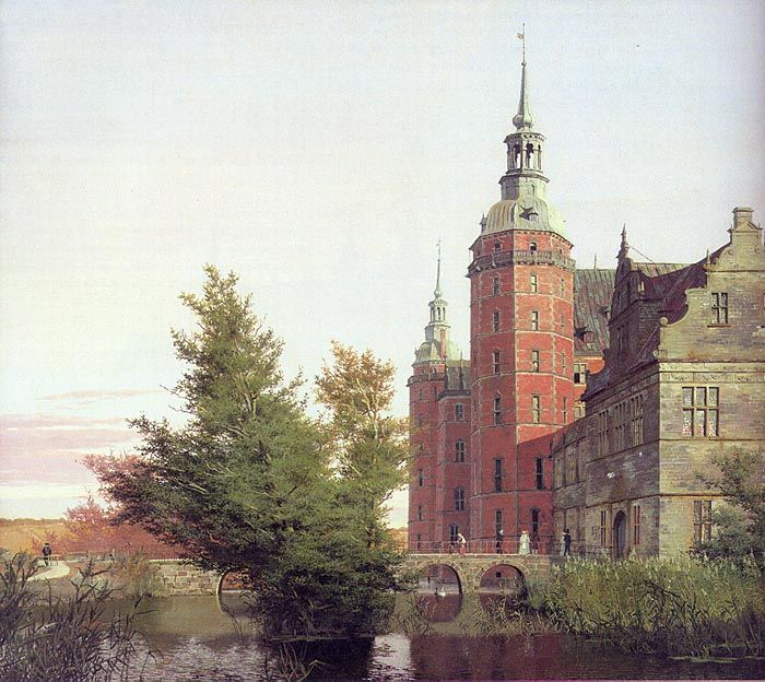 Christen Kobke 1810 1848 Frederiksborg Castle Seen From The Northwest 1836 Staatens Museum Fur Kunst Copenhagen Hudozhniki Zhivopis Portret