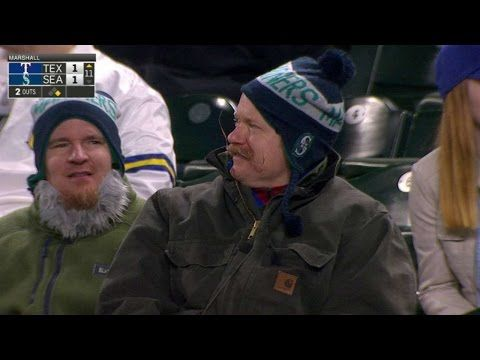 TEX@SEA: A Mariners fan's finessed facial hair - YouTube