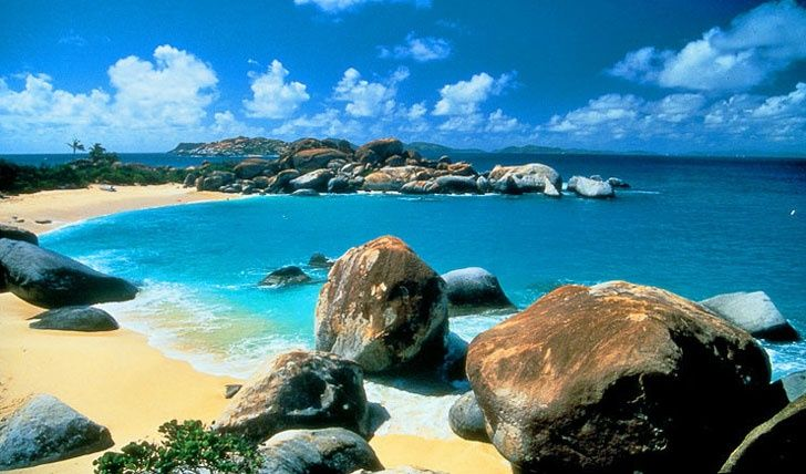 British Virgin Islands The Baths Virgin Gorda Stock Photo
