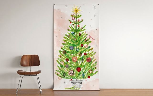 我們看到了。我們是生活@家。: Super Fun Happy Tree將傳統聖誕樹變成個性十足的巨幅海報