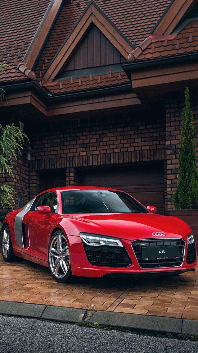 Audi # R8,  #Audi #luxurycarsred #audir8