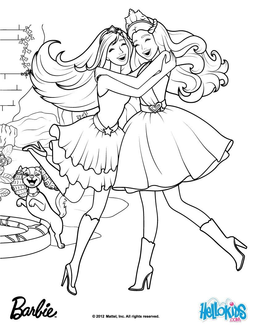 Gardenia Diamonds Made The Kingdon Magical Barbie Coloring Page