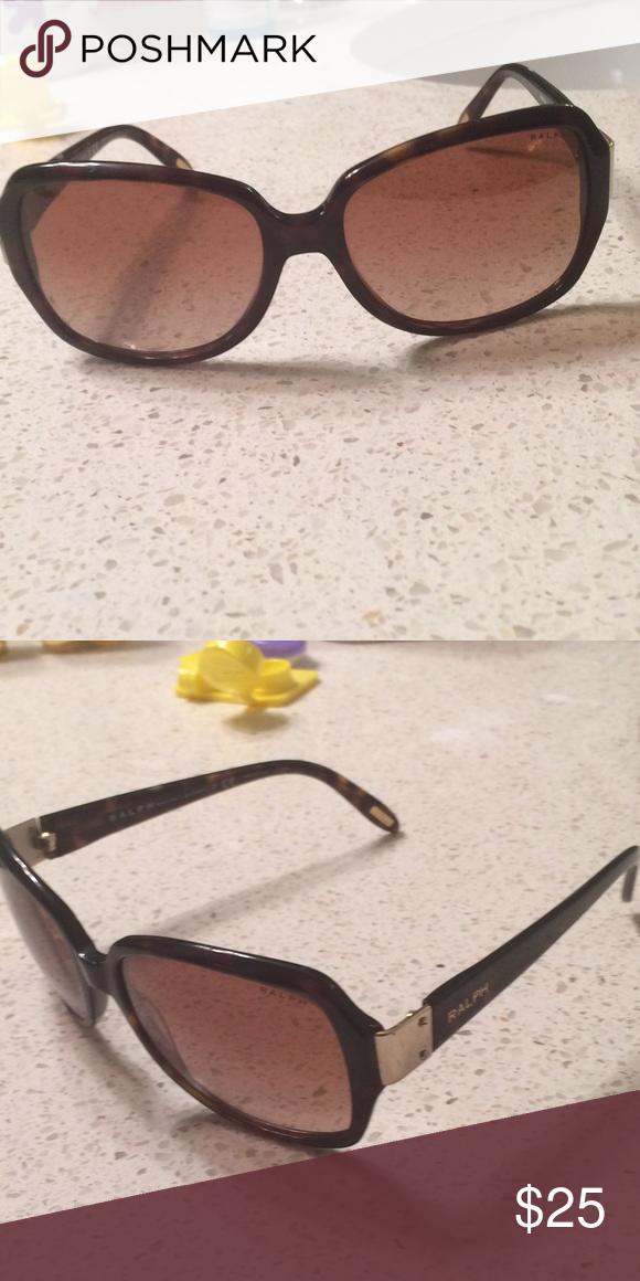 Ralph Lauren sunglasses Lightly worn brown Ralph Lauren sunglasses with gold hardware Lauren Ralph Lauren Accessories Glasses