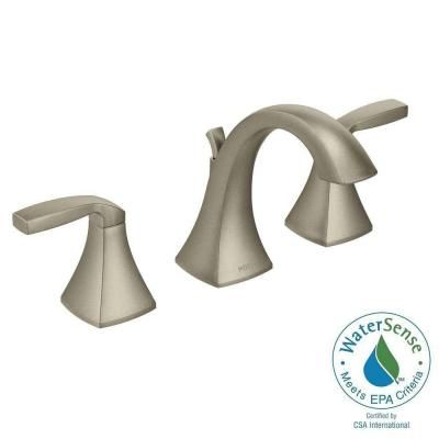 Master Bath Faucet Moen Voss Widespread In Brushed Nickel - 8 inch spread bathroom faucet