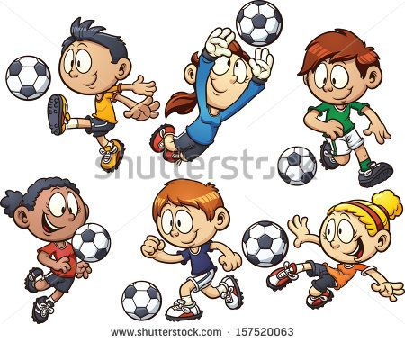 A Girl Kicking A Soccer Ball Football Girls Kids Soccer Kids Clipart