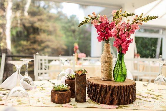 Centro de mesa r stico casamento pinterest mesas e - Centro de mesa rustico ...