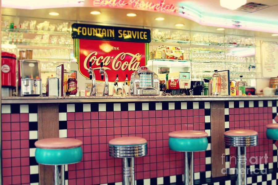 Retro Diner By Sylvia Cook In 2020