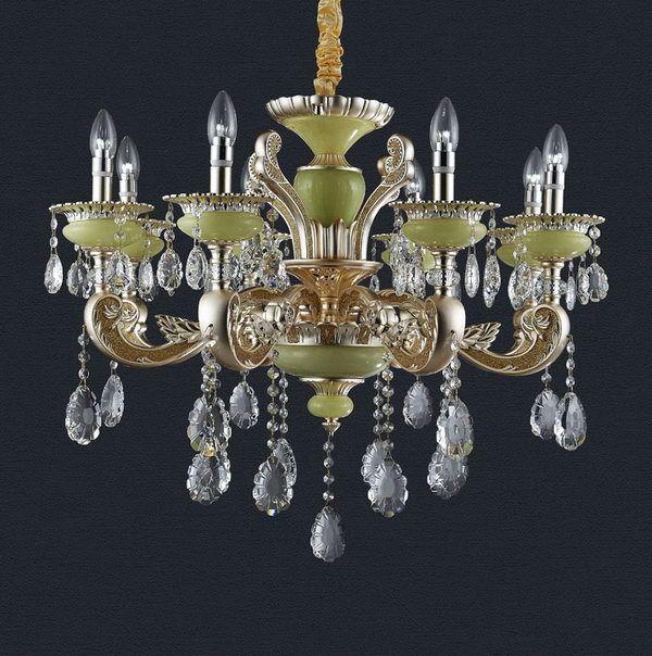 Contemporary custom made handmade austrian crystal chandelier