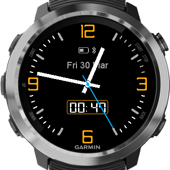 Watch Face For The Garmin Fenix 5x Plus From The Garmin Connect Iq