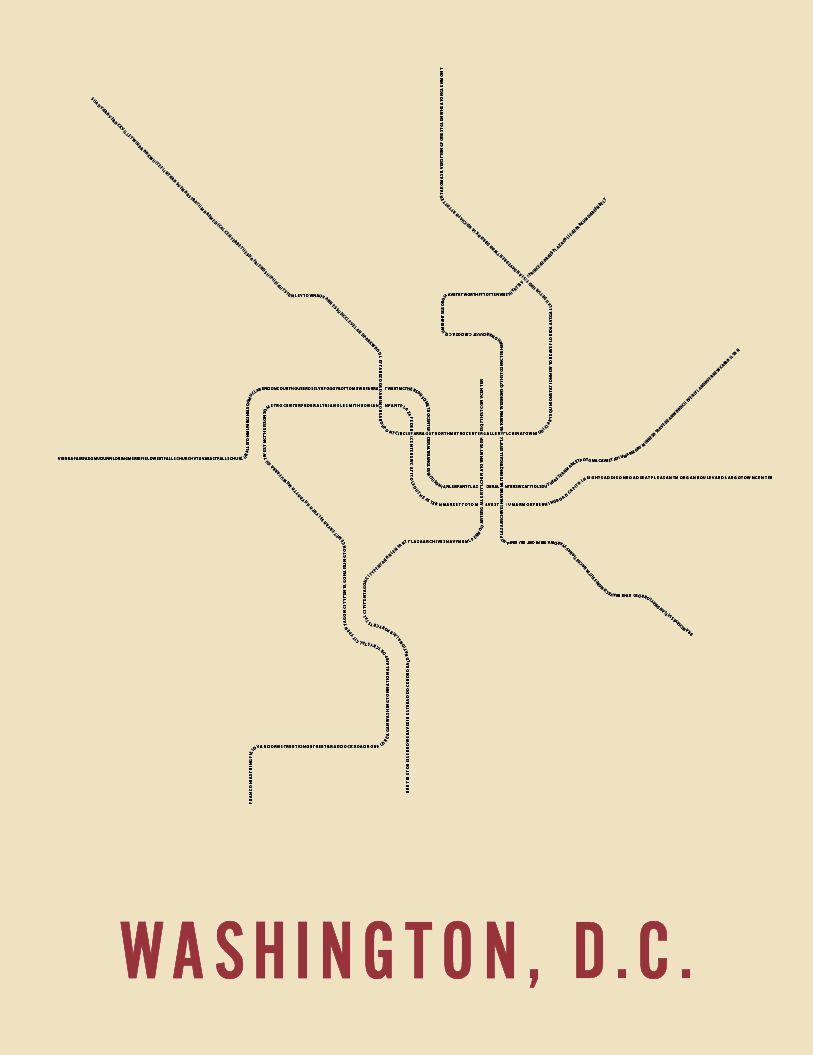 Trnsprtnation, awesome typographic metro map posters | the