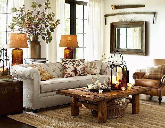 28 Elegant And Cozy Interior Designs By Pottery Barn Pottery Barn Living Room Rustic Living Room Living Room Designs