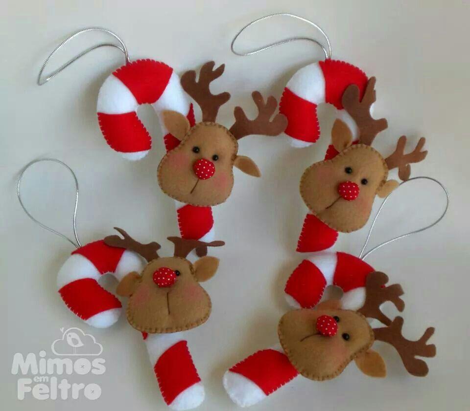 Fofuras De Natal Ho Ho Ho Pinterest Fieltro Navidad Rboles  ~ Manualidades De Fieltro De Navidad