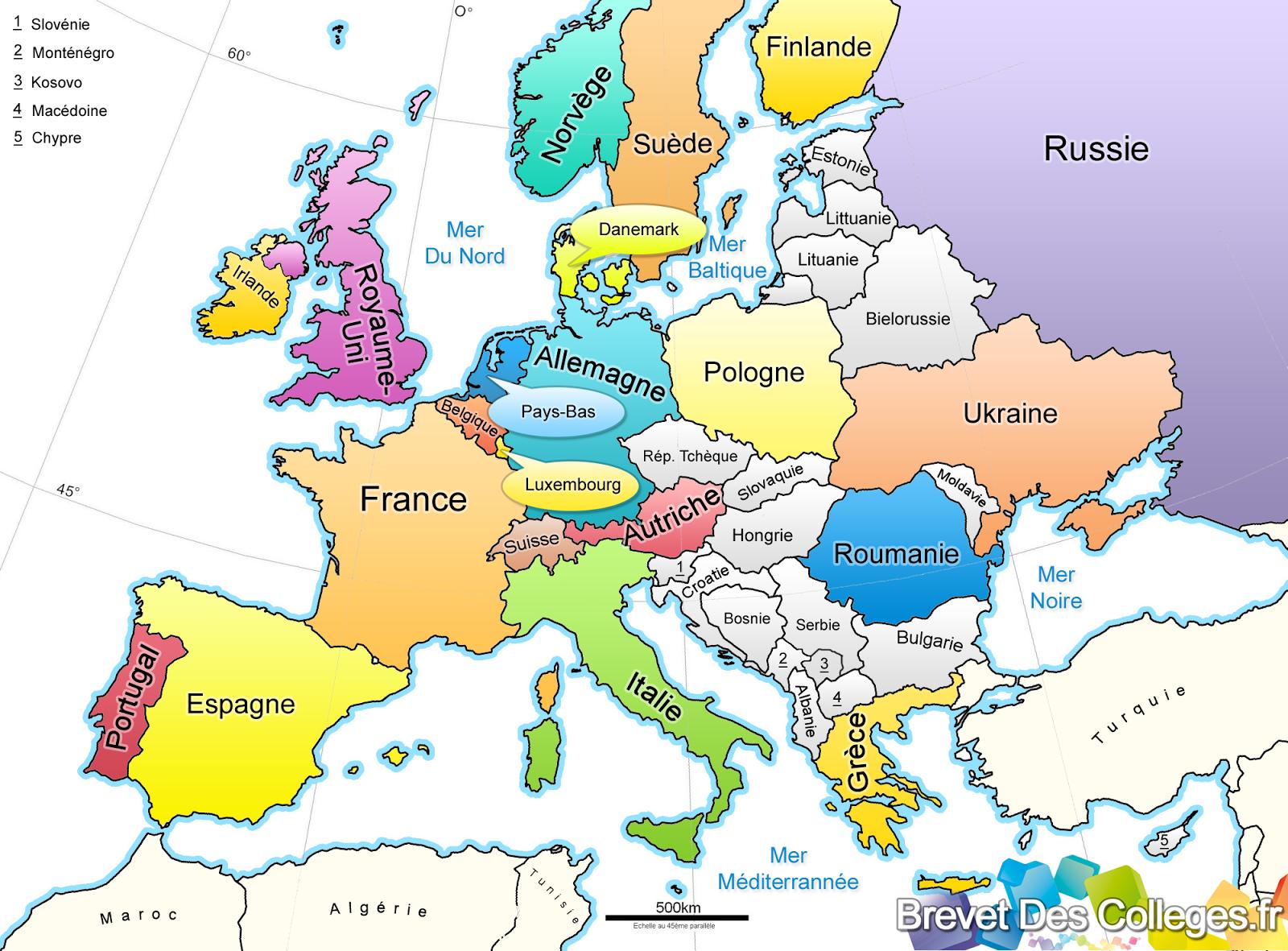 carte de l europe à imprimer Carte de l'Europe à imprimer 4 | Pays, Géographie