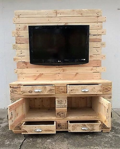 33 top idées de meubles tv en palettes