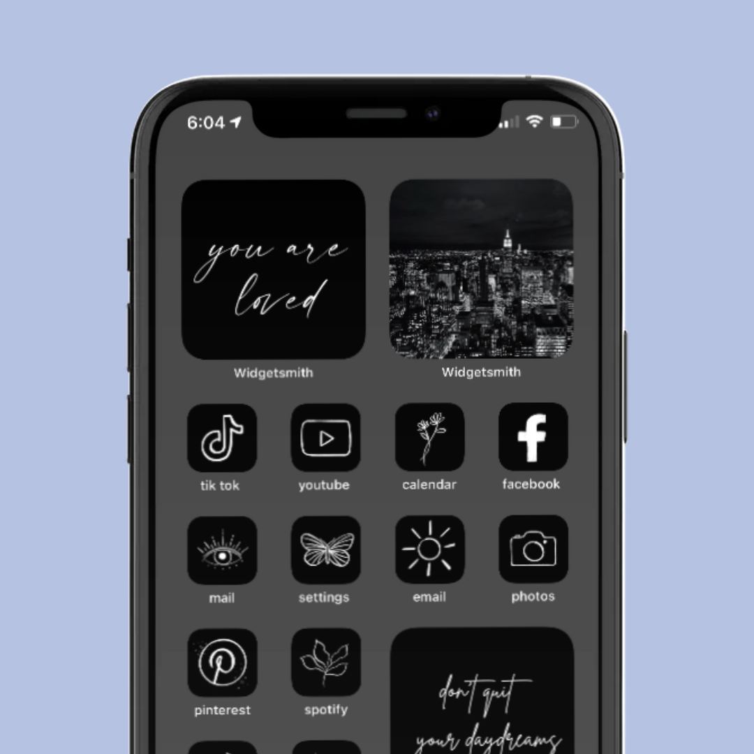 Free Download Home Screen Layout Black Aesthetic Iphone Home Screen Layout Homescreen Iphone Homescreen
