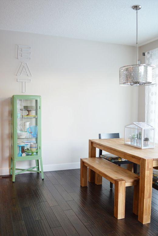 IKEA Fabrikor Cabinet Used As Dining Room Display