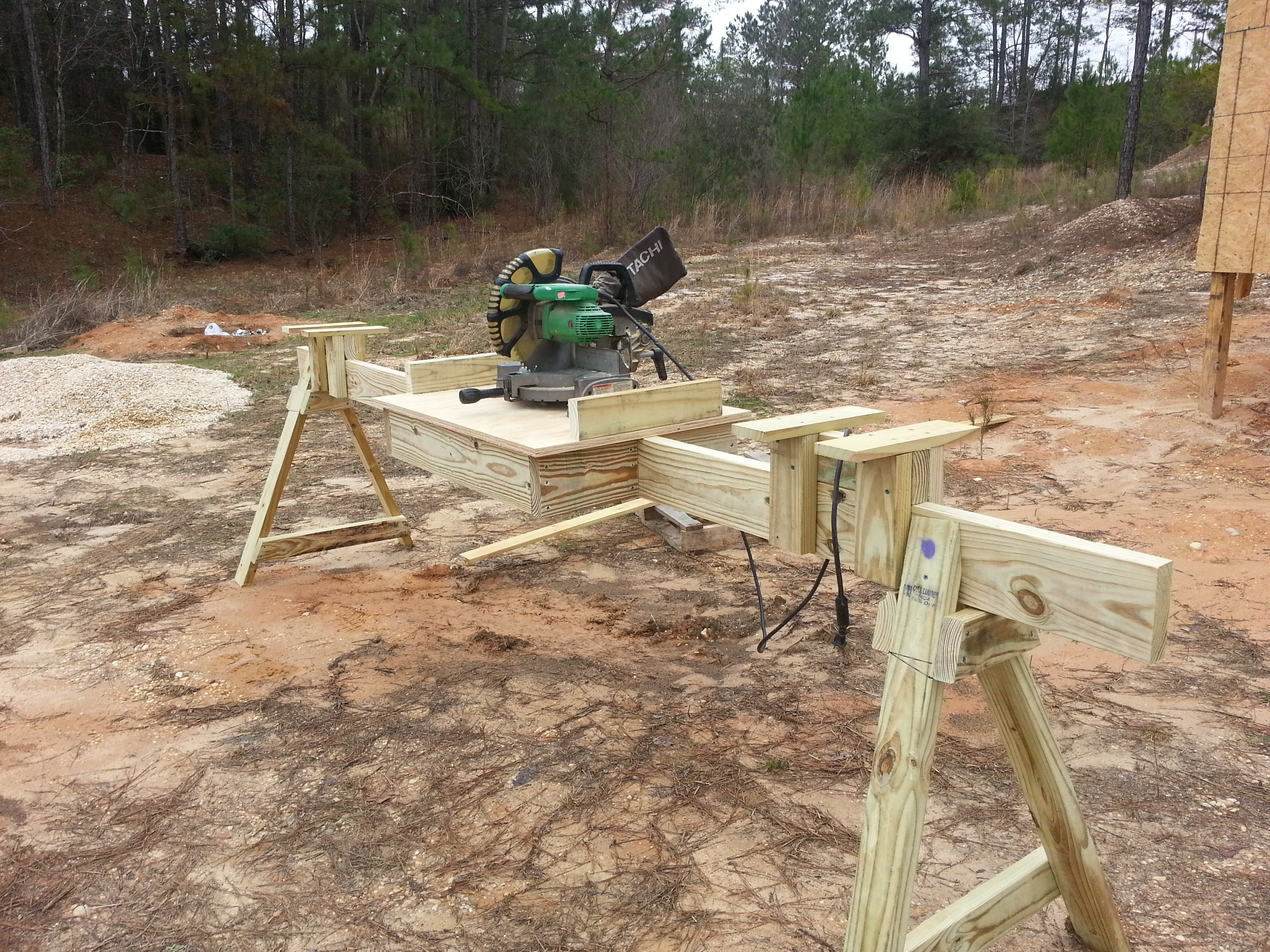 Diy tree stand plans - Portable Mitre Saw Stand I Built Based On These Plans Total Cost About 50