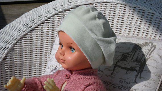 bonnet béret chapeau  bébé  fille  lin eva kids  velours vert collection  automne hiver doux agréable extensible créateur lineva 361bc13417e