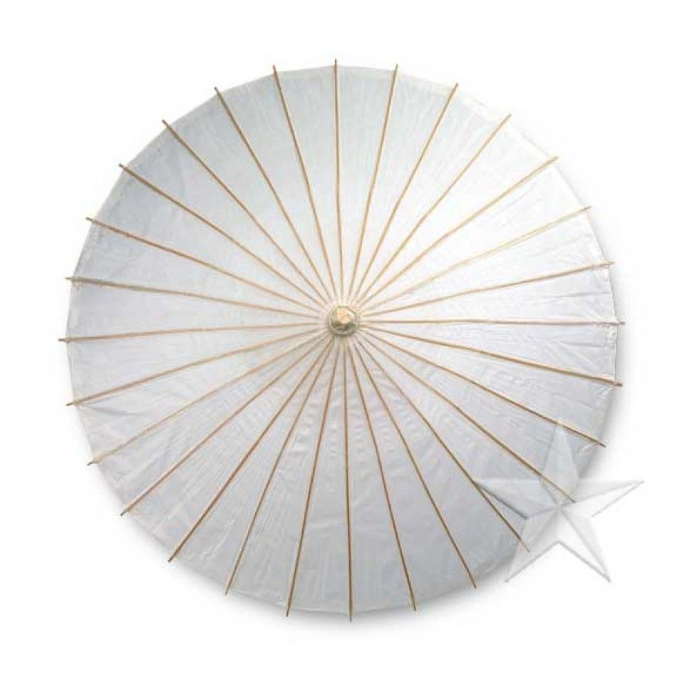 Color Paper Parasols Umbrella - White [BULK Wedding Parasol ...