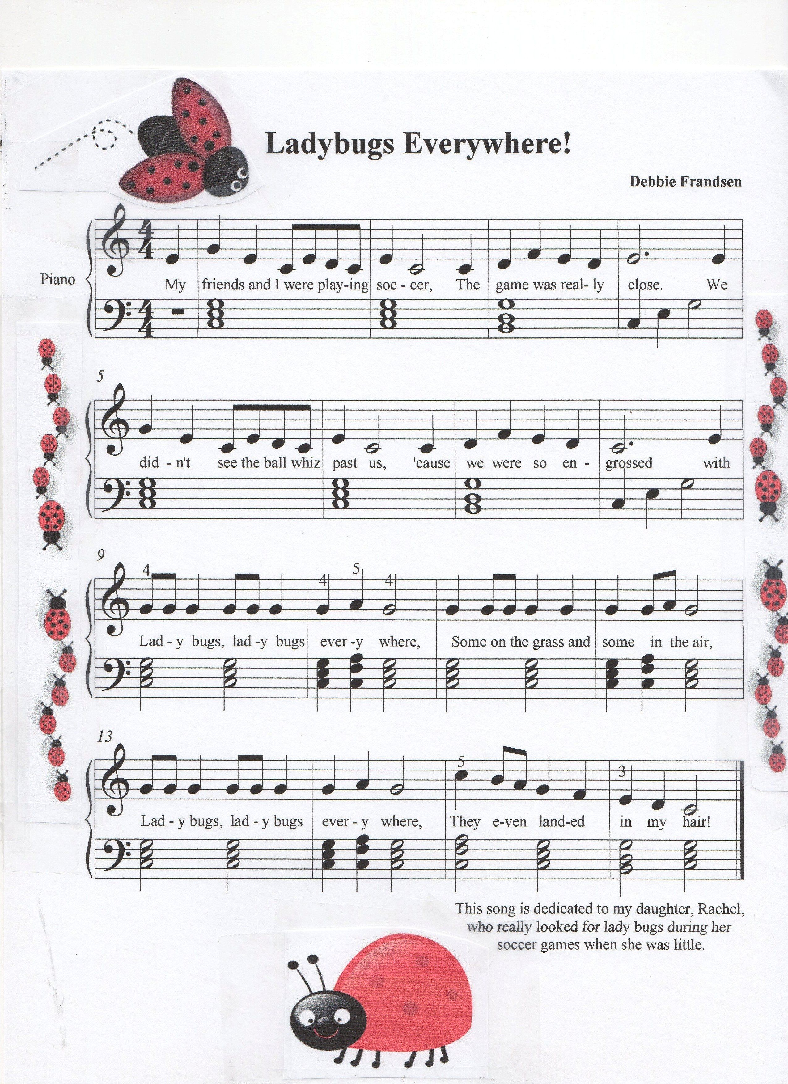 Let S Play Music Piano Lessons Ladybugs Everywhere