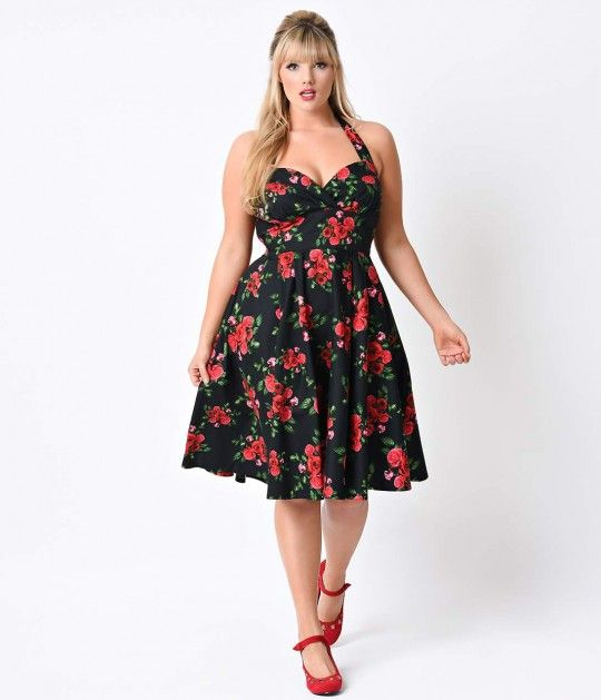 a09f23b12ea58 Send her roses! This fantastic plus size vintage dress is fresh from ...
