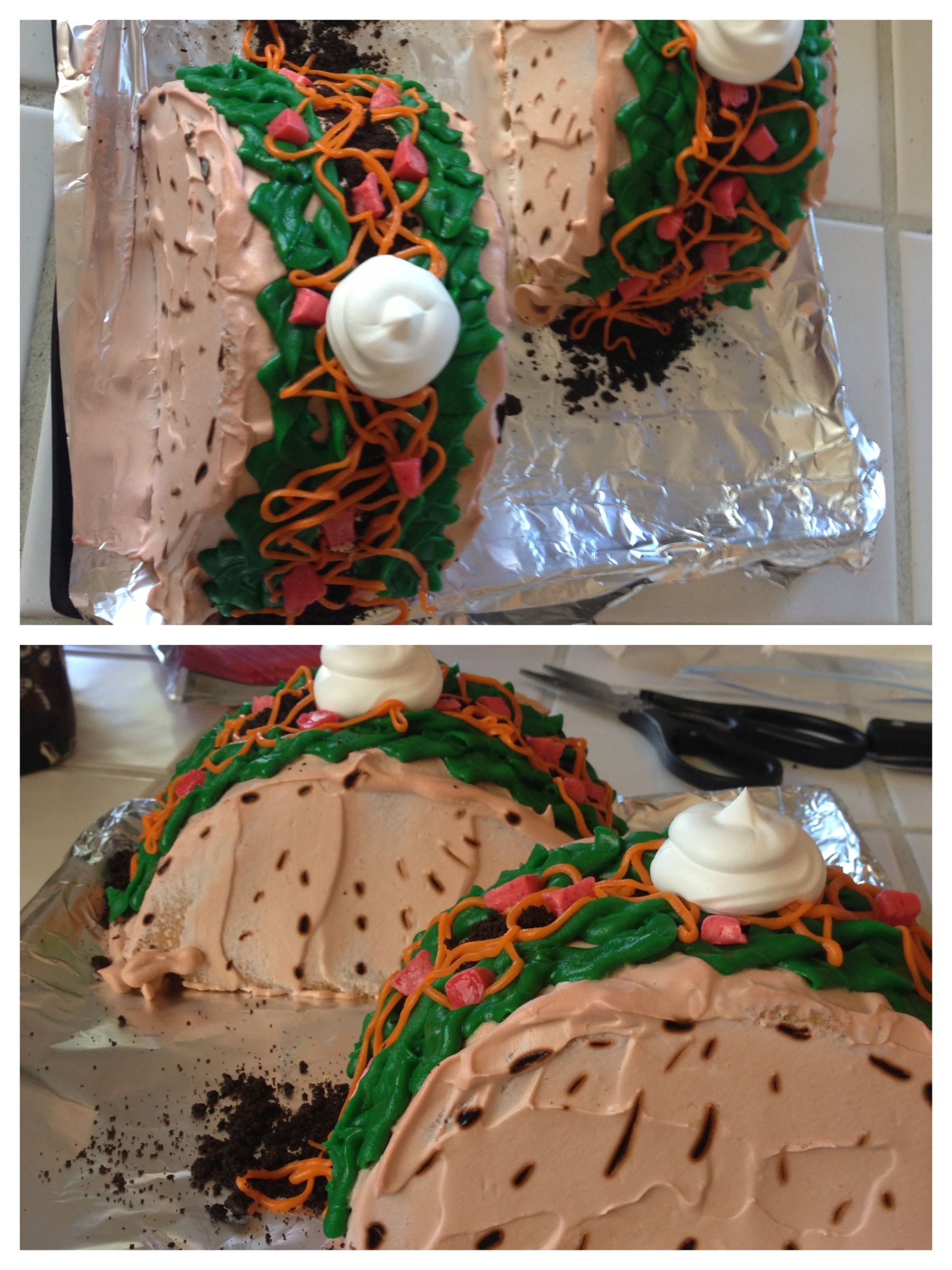 Made him a taco cake for his birthday birthday
