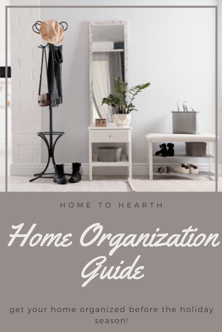 Check out our easy organization ideas for the home! Get your home organized before the Holidays for a calm & enjoyable holiday season. Learn how to declutter entryway, organize garage, organize closet, and organize kitchen cabinets! Learn how to declutter entryway, holiday organization & more for a happy, calm, and fun holidays 2019. Declutter front entry, how to declutter entry! Home organization ideas & home organization tips! #summerhomeorganization