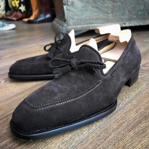 fcadea9ea Handmade men black suede shoes men dress formal shoes leather shoes for men   fashion  clothing  shoes  accessories  mensshoes  dressshoes (ebay link)