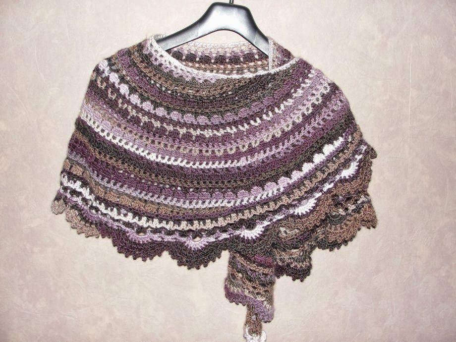 Halve Maan Sjaal Haakwerk Pinterest Crochet Shawl Crochet En