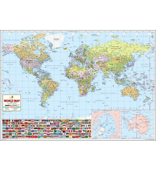 Buy World Wall Map, World Wall Map, World Map and Get free ...