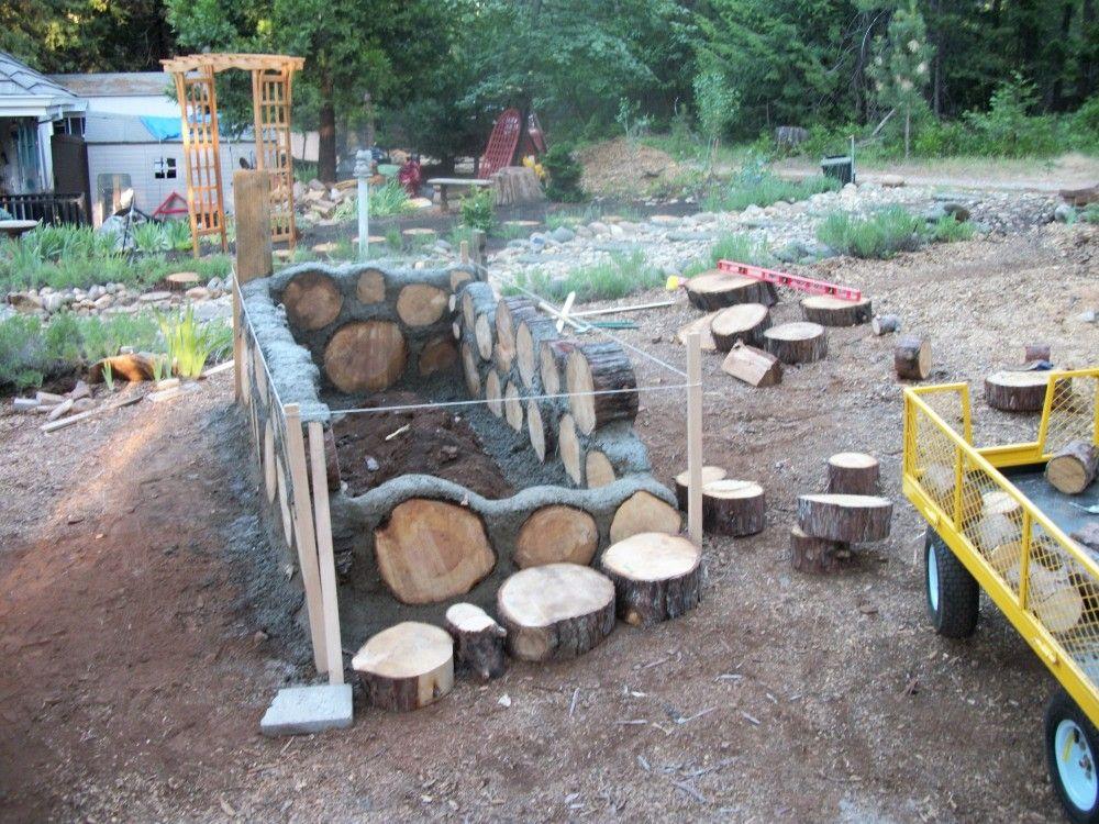 Cordwood Raised Bed Google Search Garden Beds Outdoor