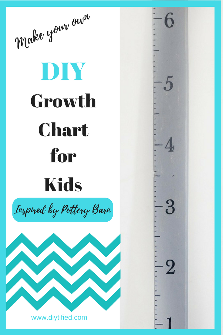 Diy Growth Chart For Kids Easy Tutorial Growth Charts Chart And