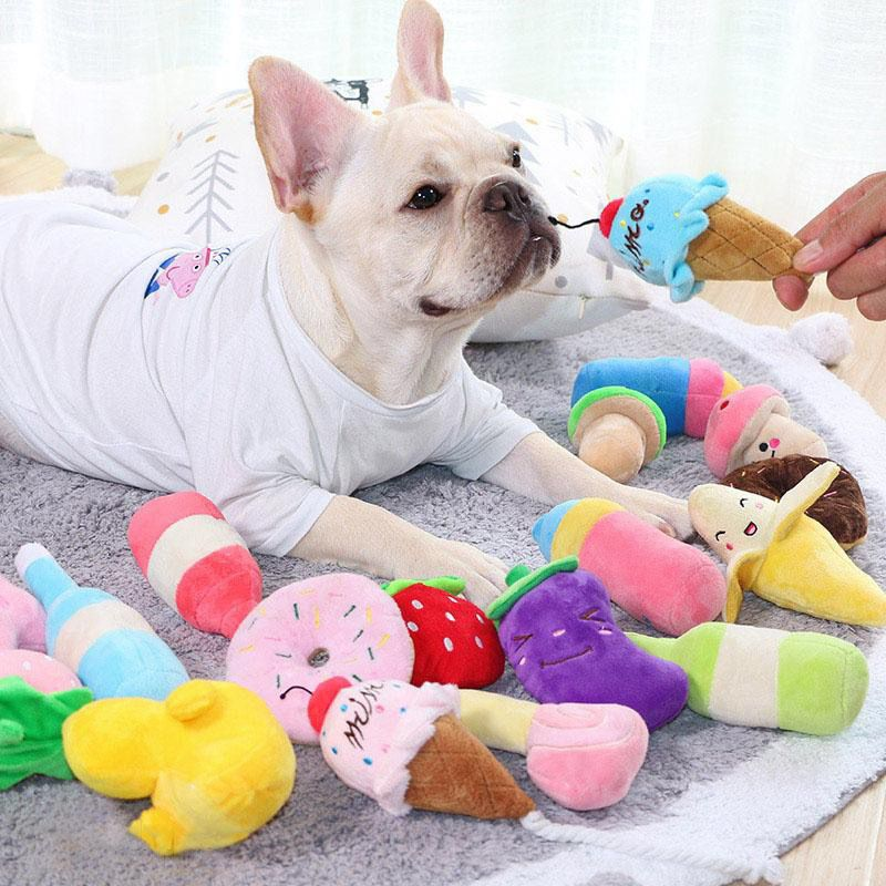 Food Stuff Squeaky Toy Bulldog Dog Toys French Bulldog Puppies
