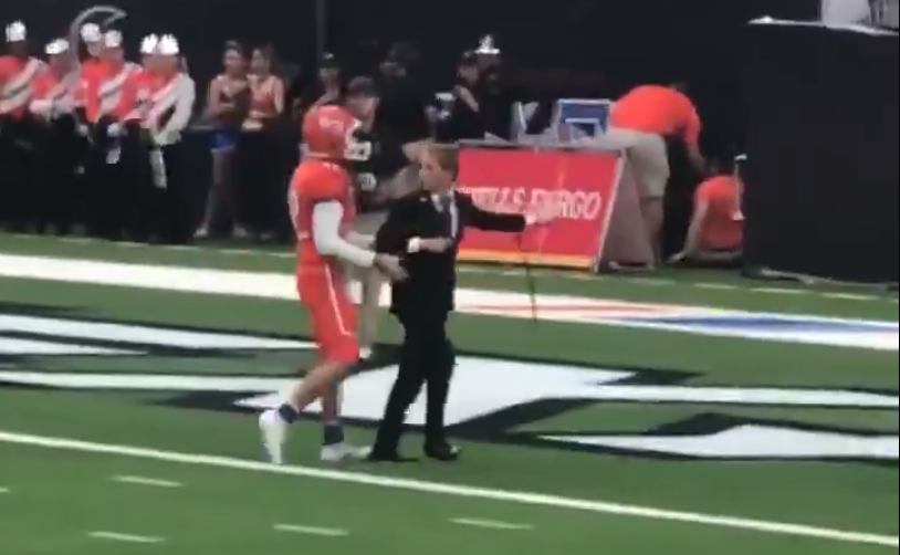 Sam Houston State Kicker Refuses to Leave Field Sam