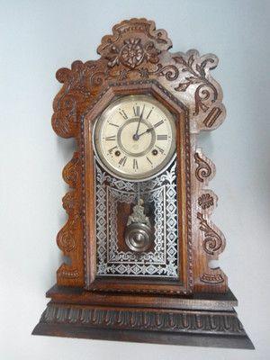 Antique Ansonia Gingerbread Clock Nice Running Condition Vintage Clock Clock Antique Clocks