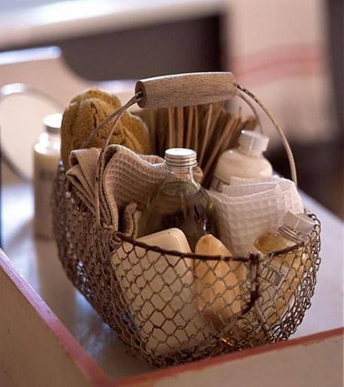 Onlybutaglimpse Guest Room Baskets Bathroom Spa Basket
