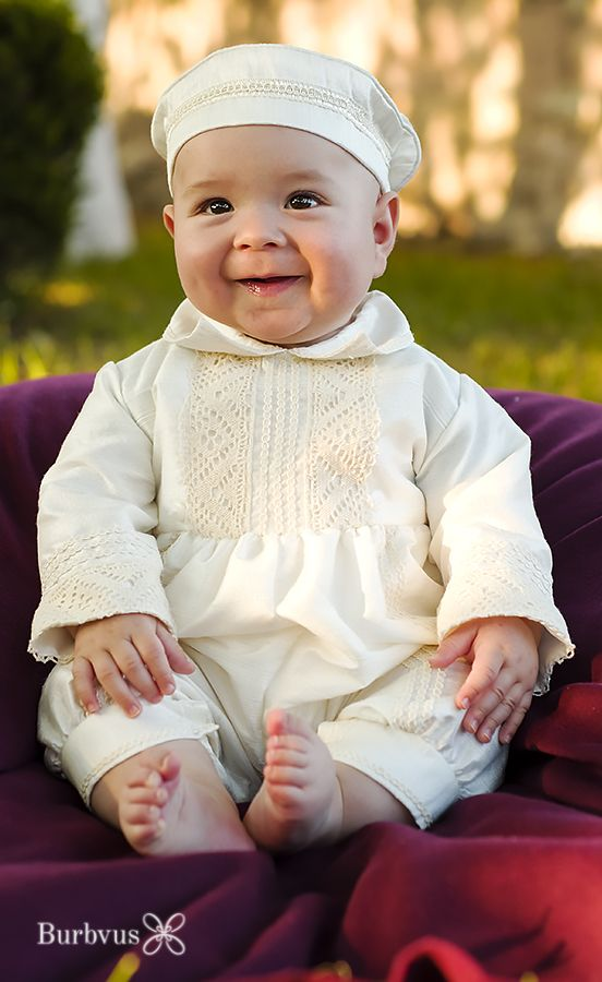 Baby Boy Baptism Outfit Burbvus B004 | Convertible Christening Gown ...