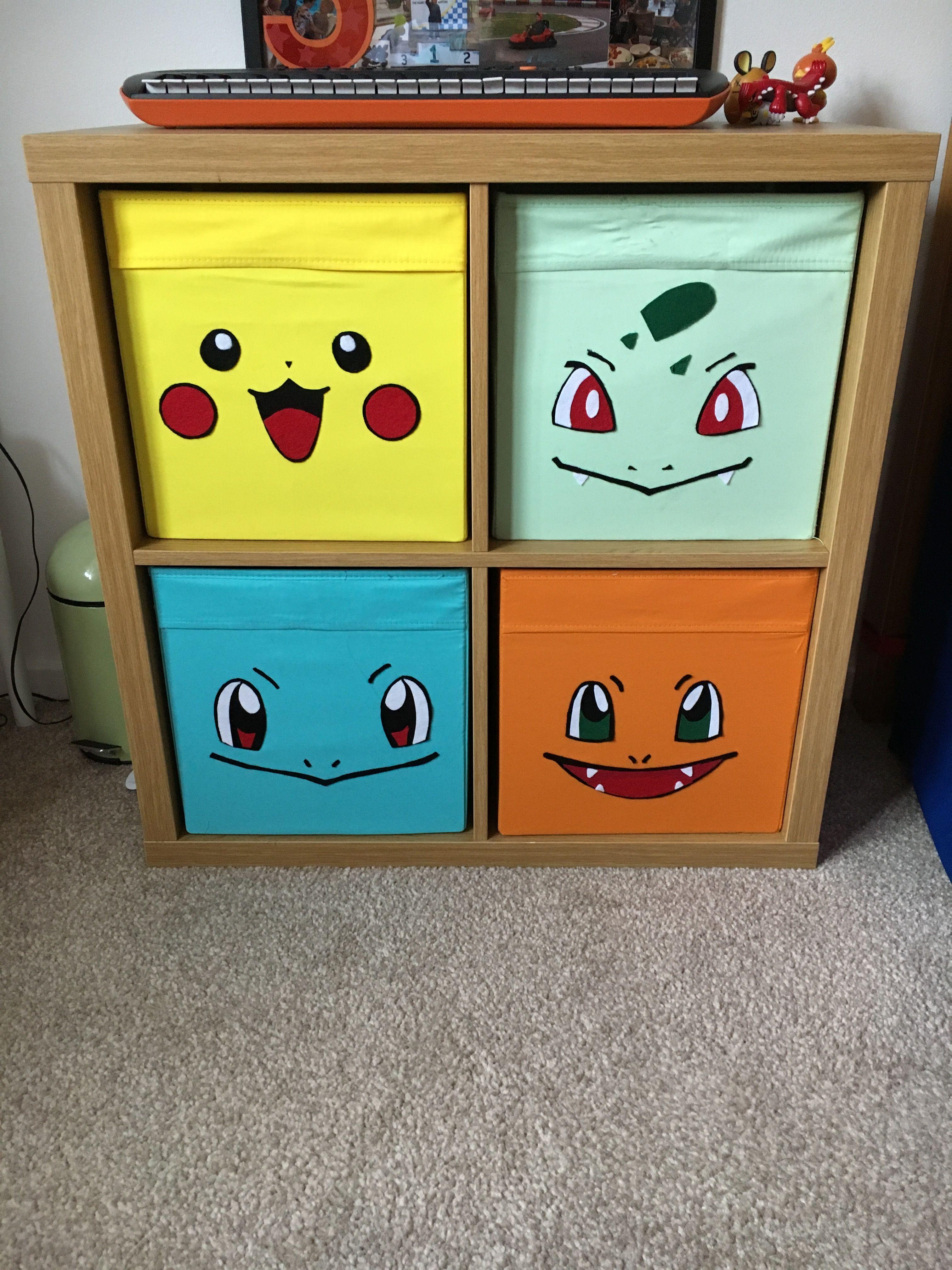 Ikea Storage Hack For Pokemon Bedroom Pokemon Room Pokemon Decor Boys Bedroom Decor